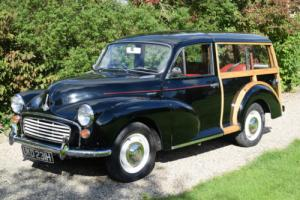 1969 MORRIS MINOR TRAVELLER - EXCELLENT ALL ROUND, SUPER WOOD, RARE IN BLACK