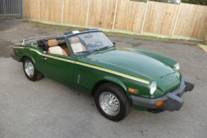 TRIUMPH SPITFIRE 1500 CONVERTIBLE LHD(1980)GREEN! 49K! IMMACULATE RUST FREE CAR!