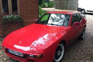Porsche 924 1985 guards red with very rare  Wolf race Wheels Photo