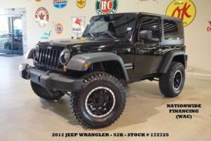 2012 Jeep Wrangler Sport 4X4 6 SPD,LIFTED,HARD TOP,BLK WHLS,52K,WE FINANCE