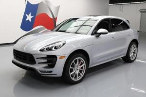 2015 Porsche Macan TURBO AWD PANO SUNROOF NAV 20'S