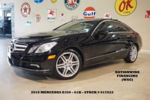 2010 Mercedes-Benz E-Class Coupe P2 PKG,PANO ROOF,AMG WHLS,61K,WE FINANCE