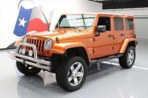 2011 Jeep Wrangler UNLTD SAHARA HARD TOP 4X4 LIFTED NAV