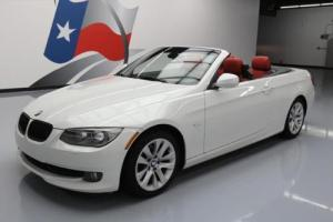 2013 BMW 3-Series 328I HARD TOP CONVERTIBLE RED LEATHER NAV