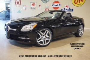 2014 Mercedes-Benz SLK-Class AUTO,PWR TOP,NAV,LEATHER,24K,WE FINANCE