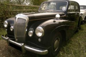 DAIMLER CONQUEST BLACK / blue WEDDING CAR similar lanchester leda jaguar century