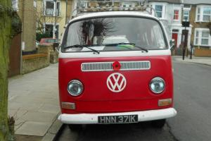 VW Camper Van Type 2 T2 1972 1.6 RHD Red MOTed to May 2014
