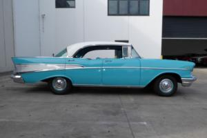 1957 CHEVROLET BELAIR 283V8 AUTOMATIC P/DISC BRAKES IN EXCELLENT CONDITION