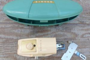 Vintage 1960's Singer Buttonholer Attachment in Green Case Sewing Machine