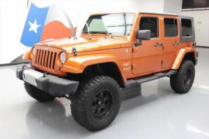 2010 Jeep Wrangler UNLTD SAHARA 4X4 LIFTED LEATHER