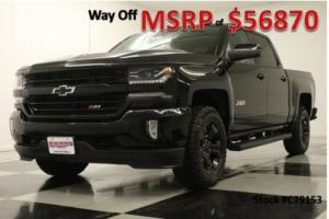 2017 Chevrolet Silverado 1500 MSRP$56870 4X4 Z71 LTZ Sunroof Midnight Edition Crew