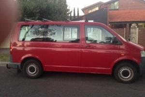 2005 VW TRANSPORTER TURBO DIESEL 8 SEATER MAROON WITH BOOKS