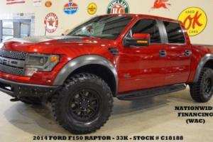 2014 Ford F-150 SVT Raptor 4X4 SUPERCHARGED,BUMPERS,ROOF,NAV,F&R CAM,33K!