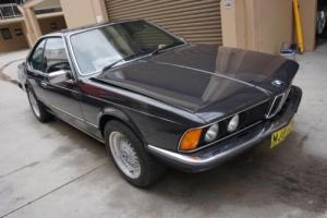 1983 E24 BMW 628 Csi Manual with Factory Limited Slip Differential and Sunroof