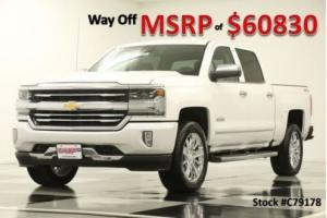 2017 Chevrolet Silverado 1500 MSRP$60830 4X4 High Country 6.2L Sunroof White Crew 4WD