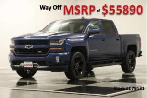 2017 Chevrolet Silverado 1500 MSRP$55890 4X4 2LT Z71 GPS Leather Blue Crew 4WD