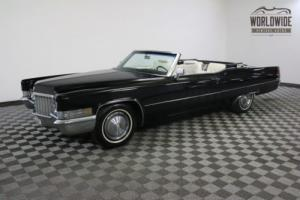 1970 Cadillac DE VILLE ONE OWNER 108K CONVERTIBLE Photo