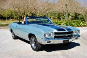 1970 Chevrolet Chevelle SS Convertible 396 V8 Factory Air! Bucket Seats!