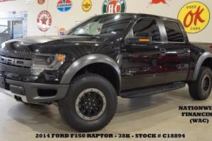 2014 Ford F-150 SVT Raptor 4X4 ROOF,NAV,F&R CAM,HTD/COOL LTH,38K,WE FINANCE