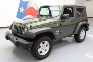 2009 Jeep Wrangler X CONVERTIBLE 4X4 6-SPEED NAV