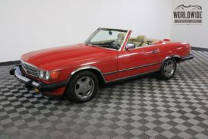 1989 Mercedes-Benz SL-Class CONVERTIBLE CLEAN CARFAX V8! Photo