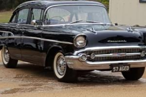 57 Chevy RHD factory black,stock,6 cyl,man,nsw rego may tde holden hq gts or ss
