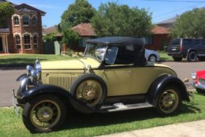1930 Ford Sports Roadster Australian Deliver 6 Wheel Delux Hotrod or Stock