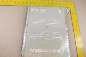 1987 Mechanical Service Manual, Renault Medallion, MR 289 AMC, Sedan, Wagon Photo