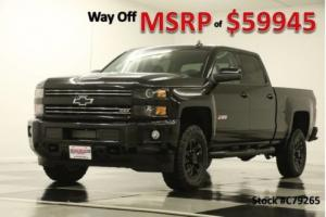 2017 Chevrolet Silverado 2500 HD MSRP$59945 4X4 LTZ Sunroof Midnight Crew 4WD