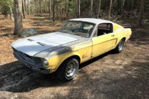 1968 Ford Mustang 1968 MUSTANG FASTBACK PROJECT RUNS DRIVES