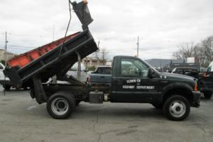 2001 Ford F-550 4x4 Dump Plow 7.3 Diesel Low Miles NO RESERVE
