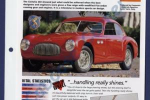 Cisitalia 202 IMP Brochure Specs 1947-1957 Group 1, No 38