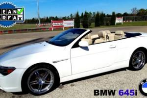 2005 BMW 6-Series Convertible with chrome custom wheels