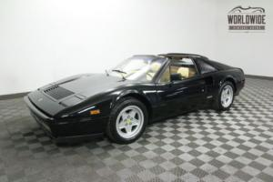1987 Ferrari 328 STUNNING. SERVICED. 35K MILES. NERO BLACK!