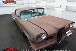 1958 Edsel Corsair Hardtop Missing Motor Good Body for Parts Photo