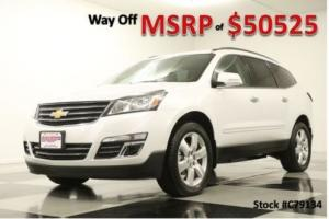 2017 Chevrolet Traverse MSRP$50525 AWD Premier DVD GPS Sunroof Leather White