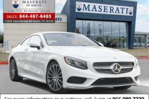 2016 Mercedes-Benz S-Class 2dr Cpe S550 4MATIC