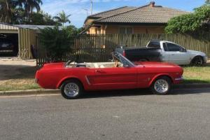 1965 Mustang Red Convertible