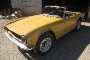 Triumph TR6 1972 For restoration LHD. Perfect Project.