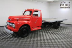 1950 Ford F1 WORKING FLATBED ROLLBACK. RESTORED. V8.