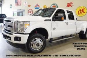 2016 Ford F-350 Platinum 4X4 DIESEL,ROOF,NAV,HTD/COOL LTH,16K,WE FINANCE