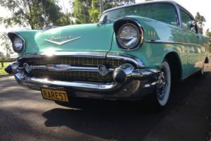 1957 Chevrolet Bel-Air rare and desirable surf green pillarless coupe