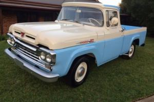 1960 Ford f100 custom cab, rebuild just completed