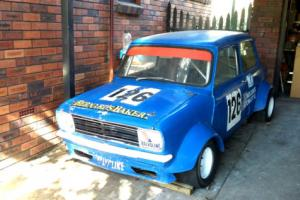 Racing Morris Mini Sport Sedan 1275 Manual fast classic hotted slicks rollcage