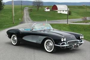 1961 Chevrolet Corvette Super Rare Tuxedo Black/Blue *NCRS Top Flight* Photo