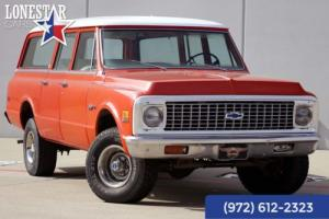 1972 Chevrolet Suburban Custom Deluxe 4x4 3 Door Rear Air