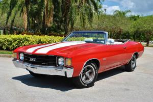 1972 Chevrolet Chevelle Convertible SS Tribute 350 V8 Bucket Seats PS PB