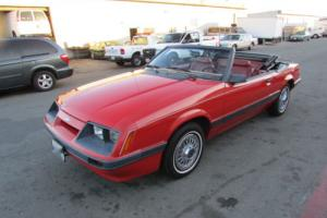 1986 Ford Mustang WHITE CONVERTIBLE TOP - TIME CAPSULE CAR