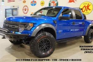 2013 Ford F-150 SVT Raptor 4X4 LEX BUMPERS,ROGUE SUSPENSION,ROLL CAGE,15K!