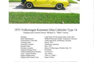 1973 Volkswagen Karmann Ghia Photo